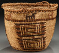 American Indian Art:Baskets, A SKOKOMISH POLYCHROME TWINED BASKET...