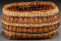 American Indian Art:Baskets, A NORTHWEST COAST TWINED TRAY...