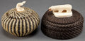 American Indian Art:Baskets, TWO ESKIMO TWINED BALEEN BASKETS. c. 1960... (Total: 2 Items)