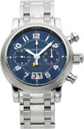 Timepieces:Wristwatch, Graham Silverstone Steel Chronograph With GMT Second Time Zone. ...