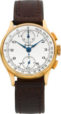 Timepieces:Wristwatch, Breitling Ref. 178 Vintage Rose Gold Chronograph, circa 1940's. ...