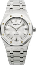 Timepieces:Wristwatch, Audemars Piguet Royal Oak Gent's Steel Automatic With Date. ...