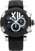 Timepieces:Wristwatch, Romain Jerome Titanic DNA Chrono Oxy Steel Limited EditionWristwatch, No. 25/2012. ...