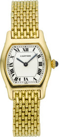 Timepieces:Wristwatch, Cartier Lady's Fine Gold Wristwatch. ...