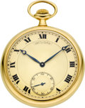 Timepieces:Pocket (post 1900), Patek Philippe Gent's Gold Pocket Watch, circa 1917. ...