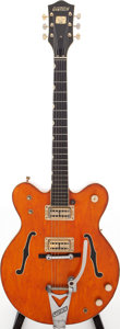 Musical Instruments:Electric Guitars, 1968 Gretsch Model 6120 Orange Semi-Hollow Body Electric Guitar, Serial # 8 1091....
