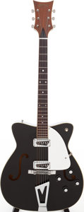Musical Instruments:Electric Guitars, 1966 Martin GT-75 Black Semi-Hollow Body Electric Guitar, Serial #214086....