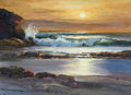 Paintings, ROBERT WILLIAM WOOD (American, 1889-1979). Sunset at Laguna, 1956. Oil on board. 12 x 16 inches (30.5 x 40.6 cm). Signed...