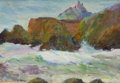 Fine Art - Painting, American:Modern  (1900 1949)  , MARY DENEALE MORGAN (American, 1868-1948). California Coast.Oil on artists' board. 10 x 14 inches (25.4 x 35.6 cm). Est...