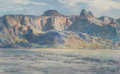 Fine Art - Painting, American:Modern  (1900 1949)  , PAUL LAURITZ (Canadian, 1889-1975). Arizona Mountains. Oilon canvas laid on board. 24 x 38 inches (61.0 x 96.5 cm). Sig...