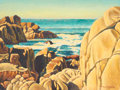 Fine Art - Painting, American:Modern  (1900 1949)  , FRANK J. GAVENCKY (American, 1888-1968). Pacific GroveCoastline. Oil on masonite. 18 x 24 inches (45.7 x 61.0 cm).Sign...