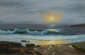 American:Regional, ROBERT WILLIAM WOOD (American, 1889-1979). Seascape. Oil oncanvas. 23-1/2 x 35 inches (59.7 x 88.9 cm). Signed lower ri...