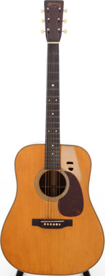 1945 Martin D-28 Natural Acoustic Guitar, Serial # 92182