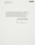 Autographs:Celebrities, Alan Bean Typed Quote Signed....