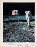 Autographs:Celebrities, Apollo 11 Crew-Signed Large Color Lunar Surface Photo....