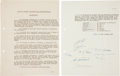 Explorers:Space Exploration, International Astronautical Federation: Original 1950Organizational Documents, Signed by the Founding Members. ...