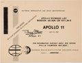 Explorers:Space Exploration, Apollo 11 Reprint NASA Stowage List Book Signed by BuzzAldrin....