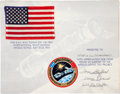 Explorers:Space Exploration, Apollo-Soyuz Test Project Flown American Flag on a Crew-Signed Certificate. ...