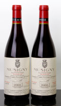 Red Burgundy, Musigny 2005 . Vieilles Vignes, Comte de Vogue . 1lnl, 1ltl,#00507, 00508. Bottle (2). ... (Total: 2 Btls. )