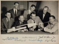 Autographs:Celebrities, Mercury Seven Astronaut Photo Signed by All in a Framed Display,Originally from the Personal Collection of Gus Grissom, with ...