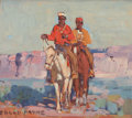 Paintings, EDGAR ALWIN PAYNE (American, 1883-1947). Navajos. Oil on artists' board. 9-3/4 x 11-1/2 inches (24.8 x 29.2 cm). Signed ...