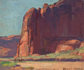 Paintings, EDGAR ALWIN PAYNE (American, 1883-1947). Canyon de Chelly. Oil on artists' board. 10 x 12 inches (25.4 x 30.5 cm). Signe...