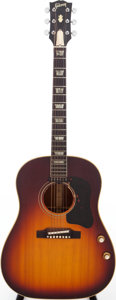 Musical Instruments:Acoustic Guitars, 1966 Gibson J-160E Sunburst Acoustic Electric Guitar, Serial # 308168....