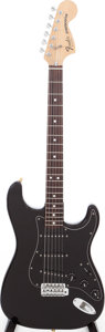Musical Instruments:Electric Guitars, 1979 Fender Stratocaster Black Solid body Electric Guitar, Serial #S963852. ...