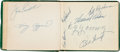 Autographs:Others, 1950's Baseball Autograph Book with Cy Young, Harry Agganis....