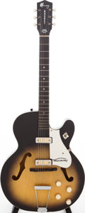 Musical Instruments:Electric Guitars, 1962 Harmony Rocket Sunburst Semi-Hollow Body Electric Guitar, Serial # 1270H54. ...
