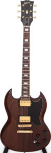 Musical Instruments:Electric Guitars, 1980 Gibson SG Standard Walnut Solid Body Electric Guitar, Serial #81510658....