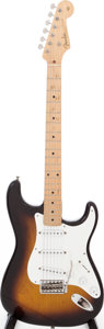 Musical Instruments:Electric Guitars, 1956 Fender Stratocaster Sunburst Solid Body Electric Guitar, Serial # 08916....