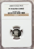 Modern Bullion Coins, 2008-W $10 Platinum Eagle PR70 Ultra Cameo NGC. NGC Census: (0).PCGS Population (381). (#393086)...