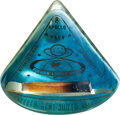 Explorers:Space Exploration, Apollo 8 Flown Heat Shield Ablator in Acrylic Display. ...