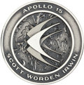 Explorers:Space Exploration, Apollo 15 Unflown Silver Robbins Medallion, Serial Number 304....