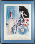 "Autographs:Celebrities, ""Naval Aviation in Space"" Limited Edition Lithograph (942 of 1000)Signed by Nine Naval Astronauts...."