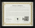 Explorers:Space Exploration, Apollo 13 Flown Heat Shield Fragments, with Signed COA....