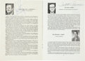 """Autographs:Celebrities, Neil Armstrong, Scott Carpenter, and Isaac Asimov: Signed """"StaffBiographies and Course Offerings"""" Booklet Obtained during the..."""