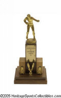 Boxing Collectibles:Memorabilia, 1957 Cassius Clay Kentucky Golden Gloves Trophy. Cassius was just fifteen when he earned this charmingly simple prize, one ...