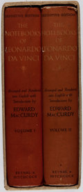 Books:Biography & Memoir, [Leonardo da Vinci, subject]. [Edward MacCurdy, editor]. TheNotebooks of Leonardo da Vinci. Reynal & Hitchcock, [19...(Total: 2 Items)