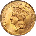 Three Dollar Gold Pieces, 1879 $3 MS65 NGC....