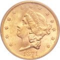 Liberty Double Eagles, 1874-S $20 MS61 PCGS....
