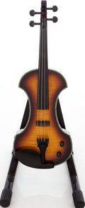 Musical Instruments:Violins & Orchestra, 2004 Fender FV Sunburst Electric Violin, Serial # KD04110042....