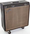 Musical Instruments:Amplifiers, PA, & Effects, 1965 Fender Super Reverb Black Guitar Amplifier, Serial # A07991....