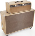 Musical Instruments:Amplifiers, PA, & Effects, Early 1960s Fender Bassman White Guitar Amplifier Head and Cabinet, Serial # BP05110. ...