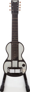 Musical Instruments:Lap Steel Guitars, 1940s Rickenbacker Model B Black and White Lap Steel Guitar, Serial # C2605....