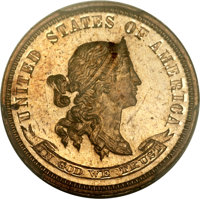 1870 10C Standard Silver Ten Cents, Judd-846, Pollock-945, Low R.7, PR65 Red PCGS Secure. CAC....(PCGS# 81090)