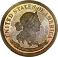 Patterns, 1869 50C Standard Silver Half Dollar, Judd-750, Pollock-833, R.7, PR66 Red and Brown PCGS Secure. CAC....