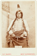 American Indian Art:Photographs, LOW DOG, OGLALA SIOUX, CABINET CARD BY DAVID F. BARRY, WESTSUPERIOR, WISCONSIN MOUNT...