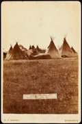 American Indian Art:Photographs, SITTING BULL'S CAMP, CABINET CARD BY DAVID F. BARRY, BISMARCK,NORTH DAKOTA MOUNT...